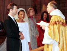 Prince Maximilian and Princess Angela at their wedding in New York in 2001.