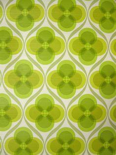 Orbital Green - vintage wallpaper