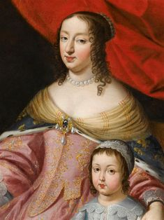 Anne d'Autriche, régente, Louis XIV et Philippe de France, duc d'Anjou. Source