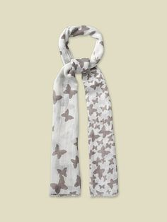 LARGE BUTTERFLY PRINT SCARF | scarves | White Stuff