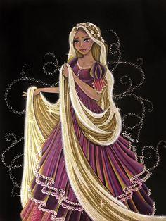 Rapunzel (Drawing by KlohArt Disney Rapunzel, Rapunzel Flynn, Rapunzel And Eugene, Disney Princess Art, Princess Rapunzel, Disney Fan Art, Disney Style, Disney Princesses, Princess Hair