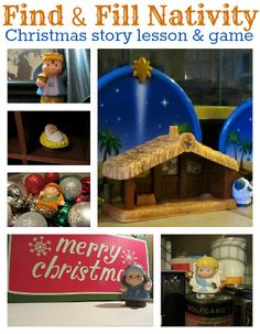 Find and fill Christmas nativity game...hide the figures from your nativity scene, write some clues and go on a treasure hunt to complete the scene.