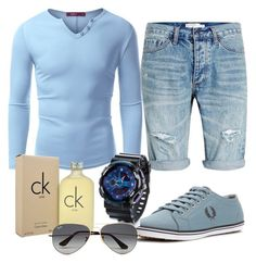"""100%mens"" by alice-fortuna ❤ liked on Polyvore featuring Topman, Fred Perry, Doublju, Calvin Klein, Ray-Ban, men's fashion and menswear"