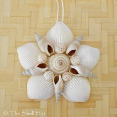 Seashell Flower Shell Christmas Ornament Wall Hanging Tropical Beach House 1 is part of Tropical Beach crafts - Seashell Christmas Ornaments, Beach Christmas, Christmas Decorations, Snowman Ornaments, Seashell Art, Seashell Crafts, Crafts With Seashells, Starfish, Seashell Projects