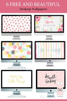6 FREE & BEAUTIFUL Desktop Wallpapers by Pastels & Macarons.