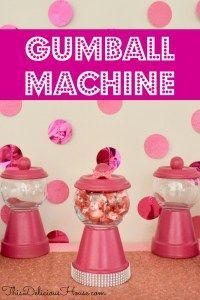 Making a DIY Gumball Machine has never been easier or cuter to do! Make this easy DIY Gumball Machine for birthday party favors or as a craft for the kids. Jojo Siwa Birthday, Barbie Birthday Party, Trolls Birthday Party, Barbie Party, Frozen Birthday Party, Unicorn Birthday Parties, Birthday Party Favors, Unicorn Party, 5th Birthday
