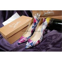 Christian Louboutin Women Flower Printed 35-41 85mm or 11cm Heels Pumps CL2015062738