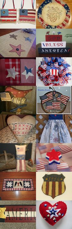 SUMMER RED WHITE and BLUES by Maryann on Etsy--Pinned with TreasuryPin.com