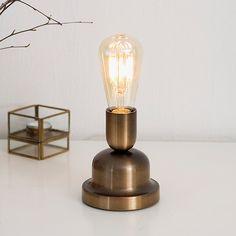 Oldschool dimmbare Tischlampe aus Metall BELID History Hergestellt in Schweden von Belid - hier im #KONTOR1710
