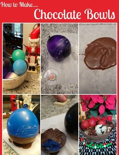 How to Make Chocolate Bowls Chocolate Cups and use those Holiday Dessert Leftovers too!