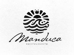 Manduca Logo by Breno Bitencourt sun and sea logo in between The Yoga (logo) Barre