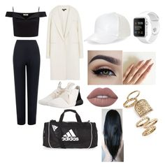 """""""Skoal day out"""" by nonameavailable on Polyvore featuring Lipsy, adidas Originals, DKNY, WearAll, adidas, BCBGeneration, Lime Crime and Topshop"""
