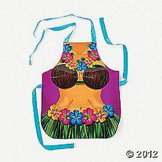 1 Female Hula Coconut Bra Apron/Luau/Beach/Tropical Party/Decoration/Favor