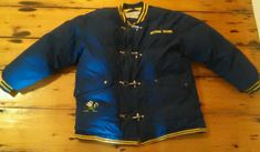 Rare Vintage Notre Dame Fighting Irish Coat Bomber Jacket Down Filled Size XL  #TurboSportswear #NotreDameFightingIrish