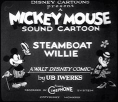 gif Black and White disney shorts Typography mickey mouse minnie mouse Debut 20s titles 1928