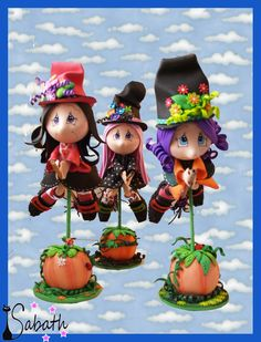 Una, dos, tres y cuatro. Halloween Clay, Halloween Ornaments, Clay Ornaments, Halloween Cakes, Halloween Kids, Happy Halloween, Halloween Decorations, Halloween 2019, Clay Pen