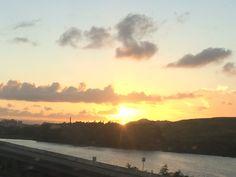 Atardecer en Cataño, vista desde el puente del Expreso Las Americas