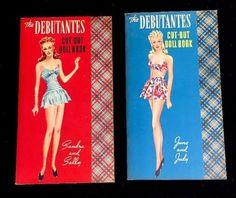 1942 Vintage Original The Debutantes Paper Dolls Set Of Two Books Uncut #Whitman