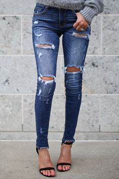cc822fdb4a3 KAN CAN Distressed Skinny Jeans - Gigi Wash - Closet Candy Boutique Candy  Boutique
