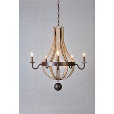 MOTI Furniture 7 Light Candle Chandelier