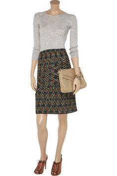 Costanza crochet-knit skirt