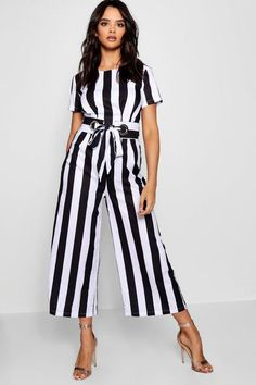 66aa1acf849b Molly Statement Belt Culotte Jumpsuit - boohoo