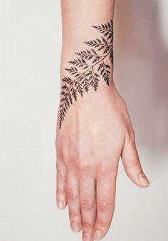So Beautiful Leaf Tattoos on Wrist