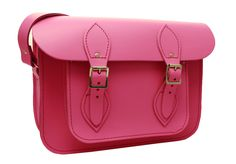 'Victoria' Candy Pink 11 inch Tom Brown Shoulder Satchel £70