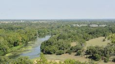Because Monument Hill State Park and Kreische Brewery State Historic Site is located at such a high elevation you get to see this amazing view of the Colorado River and La Grange, TX.