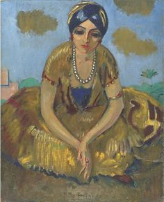 Kees van Dongen, Egyptienne au collier de perles, 1913. [oil on canvas]