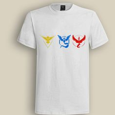 Three Team White T shirt, T shirt for Men, Women, Girl, Boy, XS, S, M, L, XL, XXL, 3XL,  Size, Customized