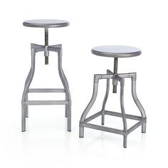 Turner Gunmetal Bar Stools | Crate and 18  - 24  or 24  -  sc 1 st  Pinterest & Felix White Barstools in Dining Kitchen Barstools | Crate and ... islam-shia.org