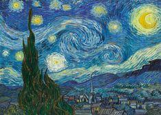 VINCENT VAN GOGH The Starry Night Notte stellata 70x50 cm Quadro stampa su pannello in legno MDF Bordo Nero: Amazon.it: Casa e cucina