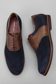 Hawkings McGill Mixed Saddle Shoe  $44.99 UrbanOutfitters