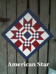 The BarnQuiltStore is open & ready to sell my hand painted barn quilts, wooden signs, and other fun stuff! I'm SOOO excited! Blue Quilts, Star Quilts, Mini Quilts, Quilt Blocks, Scrappy Quilts, Barn Quilt Designs, Barn Quilt Patterns, Quilting Designs, Art Patterns
