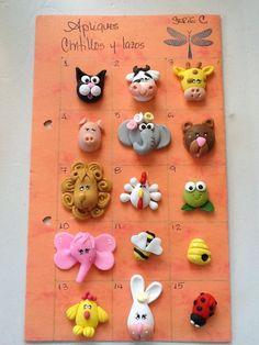 Polymer,clay,crafts. Apliques. Lazos  Roxsanabellop.tumblr.com