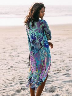 eec8571abe Chiffon Printed Swimwear Cover-ups – chicbohodress Beach Covers, Long Beach  Cover Up,