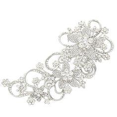 Bridal 6.5 Inch Teardrop Floral Petal Brooch Clear Austrian Crystal Silver-Tone EVER FAITH http://www.amazon.com/dp/B00IM3YTS6/ref=cm_sw_r_pi_dp_6wwnvb0REBYQJ