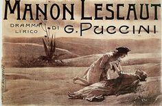 Vintage opera poster Manon Lescaut