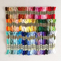 100 Skeins New DMC Embroidery Floss You Pick the Colors!! - U.S. Free Shipping Embroidery Bracelets, Dmc Embroidery Floss, Embroidery Thread, Beaded Bracelets, Beaded Jewelry, Jewelry Necklaces, String Bracelets, Thread Bracelets, Friend Bracelets