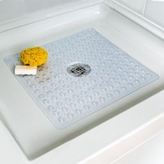 Deluxe Square Shower Mat Gift, Baby, NewBorn, Child Reliable slip protection and comfort for your feet, designed specifically for the shower.. Adheres to the shower floor with suction cups.. Made of high-quality, allergen-free vinyl.. Machine washable for years of use.. 21 x 21 square..  #Hendelman_&_Co. #Baby_Product