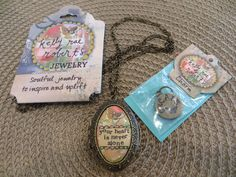 WOW, what a beautiful locket! The sentiment reads: Your heart is never alone. I absolutely adore the thought of putting a picture inside this lovely locket. You can place one or two photos inside. The vintage style is stunning. from blissfulfavs.com