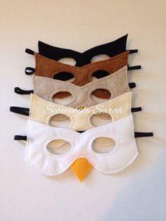 Children's Felt Bird Mask Handmade Kid's Child's by SeaminglySarah