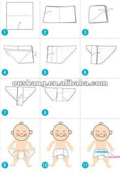 How to fold prefold diapers