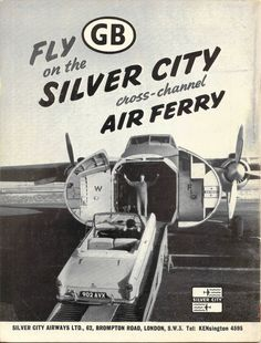 Fly on the Silver City cross-channel air ferry - advert, 1959