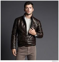 Sean OPry Models Fall 2014 Looks for Massimo Dutti image Massimo Dutti Fall Winter 2014 Sean Opry Look Book 007 800x850