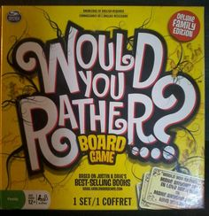 Would You Rather? Board Game - Ages 12+ Family Fun