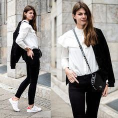 Get this look: http://lb.nu/look/8596045  More looks by Jacky: http://lb.nu/whaelse  Items in this look:  Rebecca Minkoff Bag, Adidas Sneakers   #casual #minimal #street #stansmith #whitesneakers #whiteshirt #blackeans #sneakers #modeblog