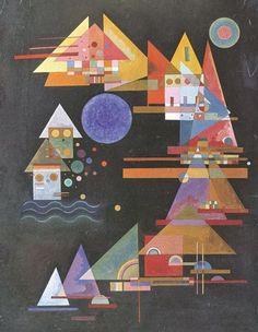 Spitzen im Bogen - 1927 - Kandinsky Vassili - Opere d'Arte su Tela - Listino prodotti - Digitalpix - Canvas - Art - Artist - Painting Art Kandinsky, Wassily Kandinsky Paintings, Keramik Design, Art Moderne, Art Abstrait, Art Graphique, Henri Matisse, Wood Print, Frames