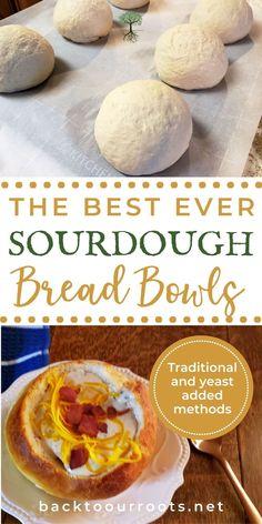 Sourdough Starter Discard Recipe, Sourdough Recipes, Bread Recipes, Baking Recipes, Easy Sourdough Bread Bowl Recipe, Homemade Bread Bowls, Homemade Breads, Yummy Recipes, Quiche